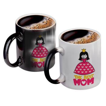 The Best Mom Queen, Κούπα Μαγική, κεραμική, 330ml που αλλάζει χρώμα με το ζεστό ρόφημα (1 τεμάχιο)