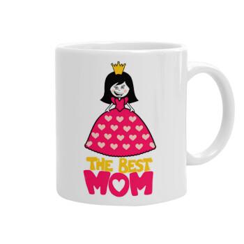 The Best Mom Queen, Κούπα, κεραμική, 330ml (1 τεμάχιο)