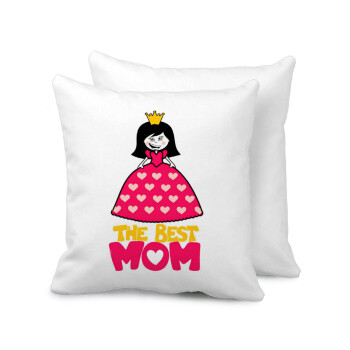 The Best Mom Queen, Μαξιλάρι καναπέ 40x40cm περιέχεται το γέμισμα