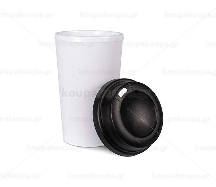 Κούπα ταξιδιού με καπάκι βιδωτό θερμό (330ml)