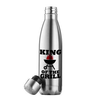 KING of the Grill, Μεταλλικό παγούρι θερμός Inox (Stainless steel), διπλού τοιχώματος, 500ml