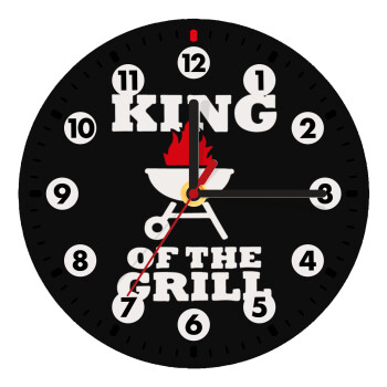 KING of the Grill, Ρολόι τοίχου ξύλινο (19cm)