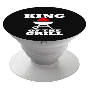 KING of the Grill, Pop Socket Λευκό Βάση Στήριξης Κινητού στο Χέρι