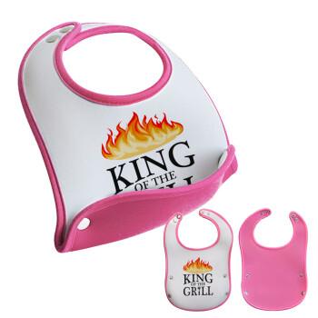 KING of the Grill GOT edition, Σαλιάρα μωρού Ροζ κοριτσάκι, 100% Neoprene (18x19cm)
