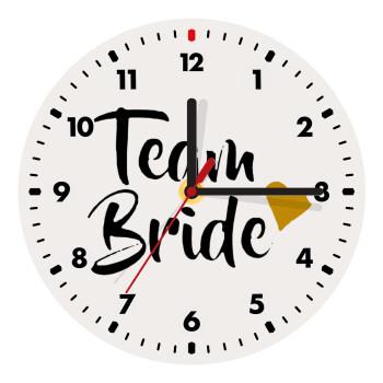 Team Bride, Ρολόι τοίχου ξύλινο (19cm)