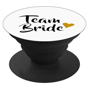 Team Bride, Pop Socket Μαύρο Βάση Στήριξης Κινητού στο Χέρι