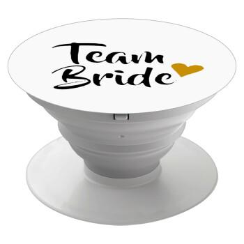Team Bride, Pop Socket Λευκό Βάση Στήριξης Κινητού στο Χέρι