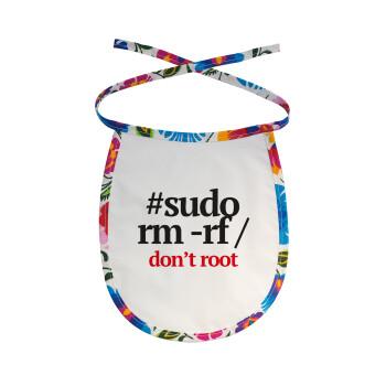 Sudo RM, Σαλιάρα μωρού αλέκιαστη με κορδόνι Χρωματιστή