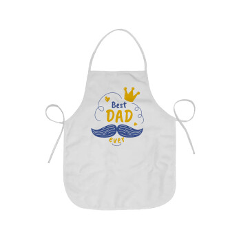 Best dad ever ο Βασιλιάς, Ποδιά μαγειρικής Ενηλίκων (63x75cm)