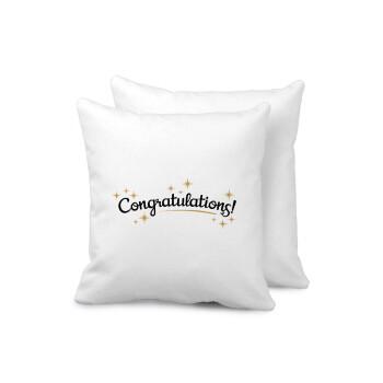 Congratulations, Μαξιλάρι καναπέ 40x40cm περιέχεται το γέμισμα