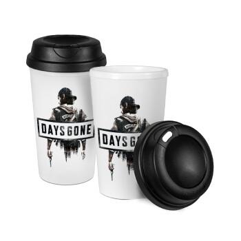 Day's Gone, Κούπα ταξιδιού πλαστικό (BPA-FREE) με καπάκι βιδωτό, διπλού τοιχώματος (θερμό) 330ml (1 τεμάχιο)