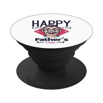 Για την γιορτή του μπαμπά!, Pop Socket Μαύρο Βάση Στήριξης Κινητού στο Χέρι