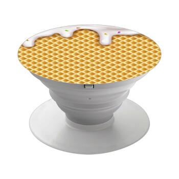 Παγωτό, Pop Socket Λευκό Βάση Στήριξης Κινητού στο Χέρι