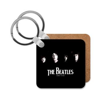 The Beatles, Μπρελόκ Ξύλινο τετράγωνο MDF 5cm (3mm πάχος)