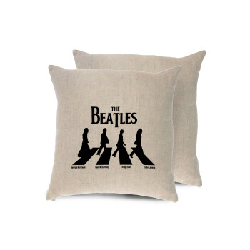 The Beatles, Abbey Road, Μαξιλάρι καναπέ ΛΙΝΟ 40x40cm περιέχεται το γέμισμα