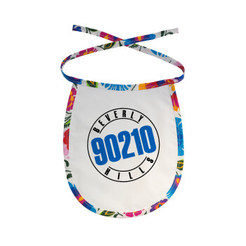 Beverly Hills, 90210, Σαλιάρα μωρού αλέκιαστη με κορδόνι Χρωματιστή