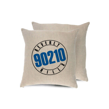 Beverly Hills, 90210, Μαξιλάρι καναπέ ΛΙΝΟ 40x40cm περιέχεται το γέμισμα