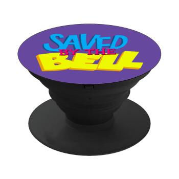 Saved by the Bell, Pop Socket Μαύρο Βάση Στήριξης Κινητού στο Χέρι