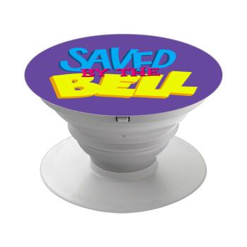 Saved by the Bell, Pop Socket Λευκό Βάση Στήριξης Κινητού στο Χέρι