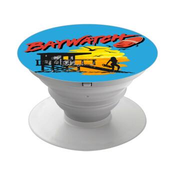 Baywatch, Pop Socket Λευκό Βάση Στήριξης Κινητού στο Χέρι