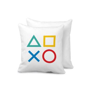 Gaming Symbols, Μαξιλάρι καναπέ 40x40cm περιέχεται το γέμισμα