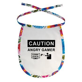 Caution, angry gamer!, Σαλιάρα μωρού αλέκιαστη με κορδόνι Χρωματιστή