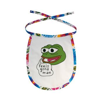 Pepe the frog, Σαλιάρα μωρού αλέκιαστη με κορδόνι Χρωματιστή