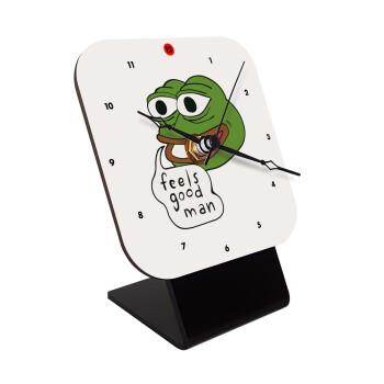 Pepe the frog, Επιτραπέζιο ρολόι ξύλινο με δείκτες (10cm)