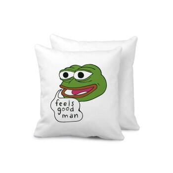 Pepe the frog, Μαξιλάρι καναπέ 40x40cm περιέχεται το γέμισμα