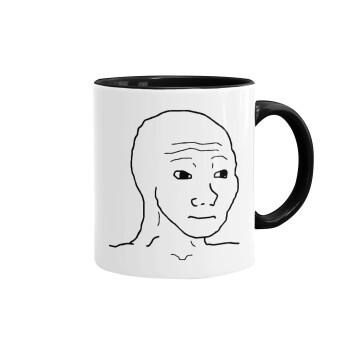 Feel guy, Κούπα χρωματιστή μαύρη, κεραμική, 330ml