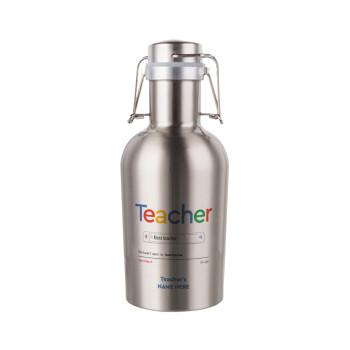 Searching for Best Teacher..., Μεταλλικό παγούρι Inox (Stainless steel) με καπάκι ασφαλείας 1L