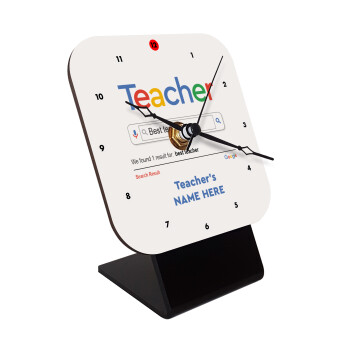 Searching for Best Teacher..., Επιτραπέζιο ρολόι ξύλινο με δείκτες (10cm)