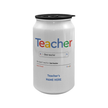 Searching for Best Teacher..., Κούπα ταξιδιού μεταλλική με καπάκι (tin-can) 500ml