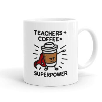 Teacher Coffee Super Power, Κούπα, κεραμική, 330ml (1 τεμάχιο)
