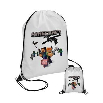 Minecraft Alex, Τσάντα πουγκί με μαύρα κορδόνια 45χ35cm (1 τεμάχιο)