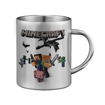 Minecraft Alex, Κούπα ανοξείδωτη διπλού τοιχώματος μεγάλη 350ml