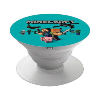 Minecraft Alex, Pop Socket Λευκό Βάση Στήριξης Κινητού στο Χέρι