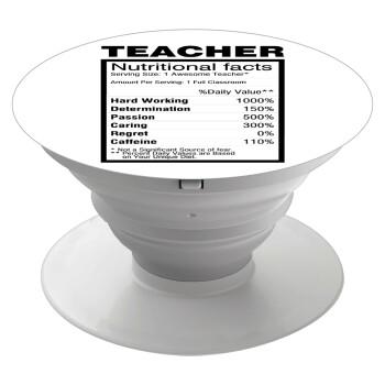Τα συστατικά του δασκάλου, Pop Socket Λευκό Βάση Στήριξης Κινητού στο Χέρι
