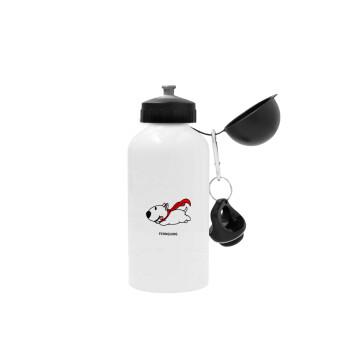 Flying DOG, Μεταλλικό παγούρι ποδηλάτου Λευκό 500ml