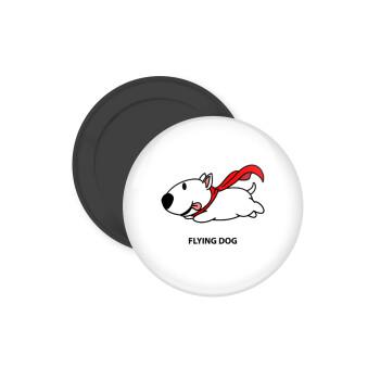 Flying DOG, Μαγνητάκι ψυγείου στρογγυλό διάστασης 5cm