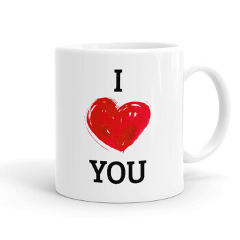 I Love You, Κούπα, κεραμική, 330ml (1 τεμάχιο)