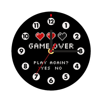GAME OVER, Play again? YES - NO,