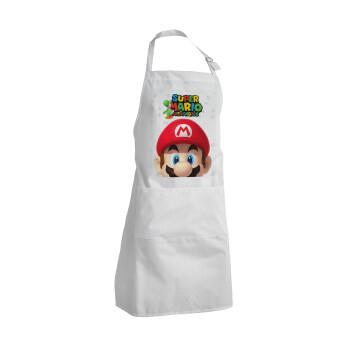 Super mario head, Ποδιά μαγειρικής BBQ Ενήλικων