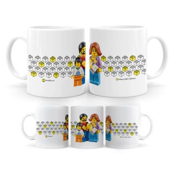 Τύπου Lego family, Κούπα, κεραμική, 330ml (1 τεμάχιο)