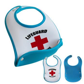 Lifeguard Save & Rescue, Σαλιάρα μωρού Μπλε αγοράκι, 100% Neoprene (18x19cm)