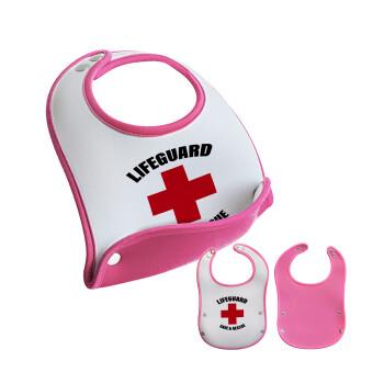 Lifeguard Save & Rescue, Σαλιάρα μωρού Ροζ κοριτσάκι, 100% Neoprene (18x19cm)