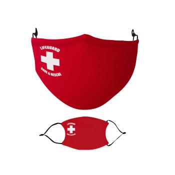 Lifeguard Save & Rescue, Μάσκα υφασμάτινη Ενηλίκων πολλαπλών στρώσεων με υποδοχή φίλτρου