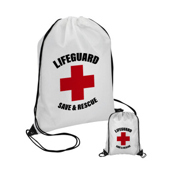 Lifeguard Save & Rescue, Τσάντα πουγκί με μαύρα κορδόνια 45χ35cm (1 τεμάχιο)