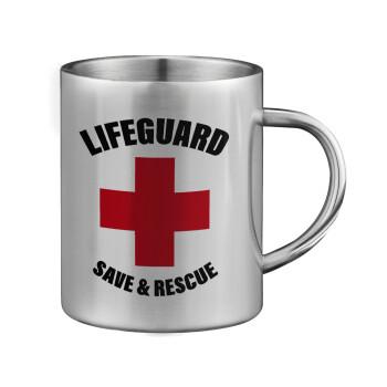 Lifeguard Save & Rescue, Κούπα ανοξείδωτη διπλού τοιχώματος μεγάλη 350ml