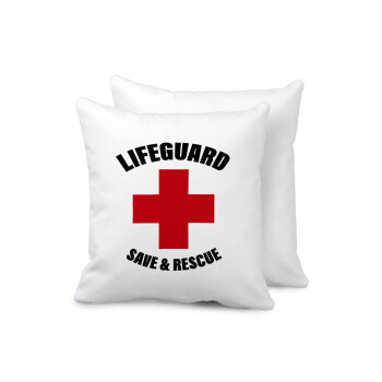 Lifeguard Save & Rescue, Μαξιλάρι καναπέ 40x40cm περιέχεται το γέμισμα